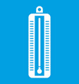 thermometer indicates low temperature icon white vector image vector image