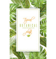 tropical vertical banner vector image vector image
