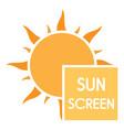 uv sun screen logo flat style vector image vector image