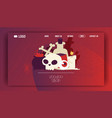 voodoo web page cartoon skull in scary vector image