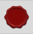 wax seal on transparent background vector image vector image