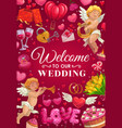 wedding items frame invitation on engagement vector image