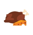 whole chicken and cheese icon vector image