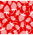 wild strawberry pattern red vector image vector image