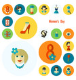 womans day icon set vector image