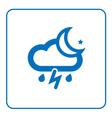 Cloud lightning rain moon icon vector image