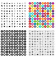100 awards icons set variant vector image vector image