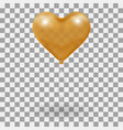 3d realistic helium heart gold balloon holiday vector image vector image