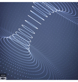 Abstract 3d Surface Looks Like Funnel Grid vector image vector image