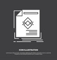 ad advertisement leaflet magazine page icon glyph vector image vector image