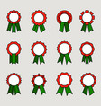 award medals with ribbons vector image