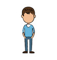 boy cartoon student young character vector image vector image