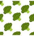 broccoli organic vegetable seamless pattern vector image vector image