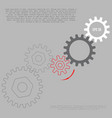 business and industry concept gears infographic vector image vector image