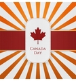 Canada Day paper Emblem with red Ribbon vector image vector image