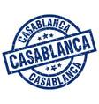 casablanca blue round grunge stamp vector image vector image