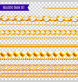 chains realisic transparent set vector image