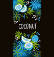 coconut label design with coconut vector image vector image