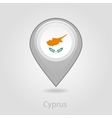 Cyprus flag pin map icon vector image