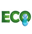 eco symbol with a drop of water vector image vector image