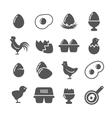 Egg icons vector image vector image