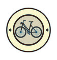 elegant frame with bicycle vehicle vector image