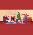 eve christmas flat gradient background vector image vector image