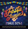 festa junina festival sale banner vector image
