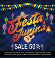 festa junina festival sale banner vector image vector image