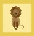 flat shading style icon cartoon lion vector image vector image