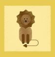 flat shading style icon cartoon lion vector image vector image