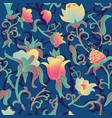 floral seamless pattern fantasy art deco vector image vector image