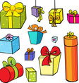 gift collection isolated on white background vector image vector image