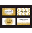 Golden Business Cards vector image vector image