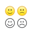 Happy and sad emoticons vector image vector image