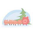 happy winter holiday vector image vector image