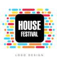 house festival logo template creative banner vector image vector image