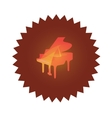 Icon with Grand Piano vector image