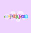 inspiration and motivation web banner abstract vector image