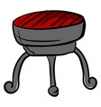 interesting brazier on white background vector image vector image
