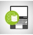 laptop technology data base center vector image