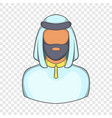 male arab icon cartoon style vector image