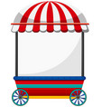 mobile shop with red roof vector image vector image