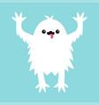 monster screaming spooky fluffy silhouette yeti vector image
