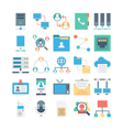 Network and Communication Colored icons 1 vector image vector image