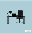 office desk icon office desk icon eps10 office vector image