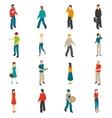 People Isometric Icons Set vector image