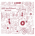 Perfect hand drawn arrows vector image
