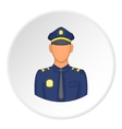 Policeman icon flat style vector image vector image