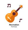 recreation flat icon vector image